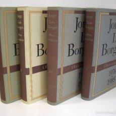 Libros de segunda mano: JORGE LUIS BORGES - OBRAS COMPLETAS (4 VOLÚMENES). CÍRCULO DE LECTORES, 1995.. Lote 56294952