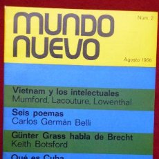 Libros de segunda mano: REVISTA MUNDO NUEVO NºS 1,2,3,4,5 Y 6 // RELATO: CIEN AÑOS DE SOLEDAD, GABRIEL GARCIA MARQUEZ. Lote 56393408