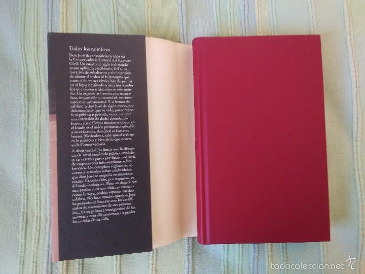 Libros de segunda mano: TODOS LOS NOMBRES. José Saramago. Círculo de Lectores - Foto 2 - 56664436
