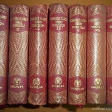 Libros de segunda mano: WENCESLAO FERNANDEZ FLORES. OBRAS COMPLETAS AGUILAR. 7 TOMOS. Lote 57044142
