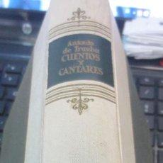 Libros de segunda mano: CUENTOS Y CANTARES ANTONIO DE TRUEBA EDIT AGUILAR AÑO 1959. Lote 57151735