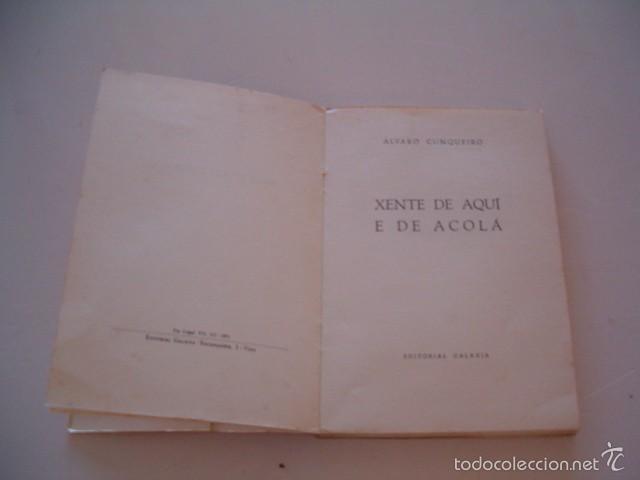 Libros de segunda mano: ÁLVARO CUNQUEIRO. Xente de aquí y de acolá. RM74867. - Foto 2 - 57187321