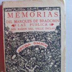 Libros de segunda mano: MEMORIAS DEL MARQUES DE BRADOMIN--VALLE INCLAN--1940. Lote 57441626