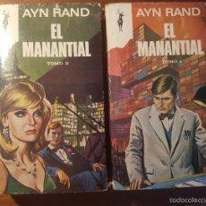 Libros de segunda mano: AYN RAND - EL MANANTIAL - DOS TOTMOS - PLANETA 1968. Lote 165408750
