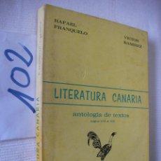 Libros de segunda mano: LITERATURA CANARIA. Lote 57498522