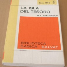Libros de segunda mano: LIBRO RTV Nº 27 LA ISLA DEL TESORO (R. L. STEVENSON) - BIBLIOTECA BASICA SALVAT. Lote 231099480