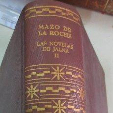 Libros de segunda mano: LAS NOVELAS DE JALNA TOMO 2 CRONICA DE LOS WHITEOAK MAZO DE LA ROCHE EDIT AGUILAR 1961. Lote 57662440