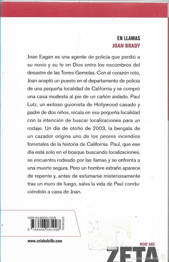 Libros de segunda mano: EN LLAMAS - JOAN BRADY - BEST SELLER - BOLSILLO ZETA - 1º EDICION 2006 - Foto 2 - 57698882