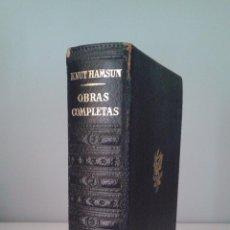 Livres d'occasion: KNUT HAMSUN, OBRAS COMPLETAS I - PLAZA JANES. Lote 57746219