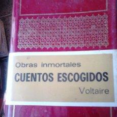 Libros de segunda mano: CUENTOS ESCOGIDOS. VOLTAIRE. Lote 57941790
