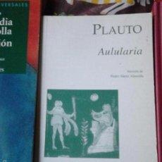 Libros de segunda mano: AULULARIA. PLAUTO. Lote 57950059