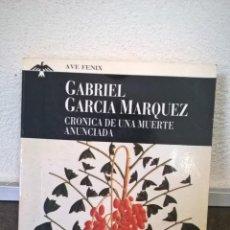 Libros de segunda mano: CRONICA DE UNA MUERTE ANUNCIADA. GABRIEL GARCIA MARQUEZ. PLAZA JANES.. Lote 178878141