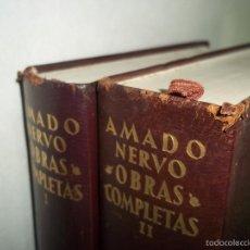 Libros de segunda mano: AMADO NERVO. OBRAS COMPLETAS. AGUILAR. 2 TOMOS. CANTOS DECORADOS 1962. Lote 58088654