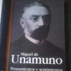 Libros de segunda mano: PENSAMIENTOS Y SENTIMIENTOS. UNAMUNO. Lote 222518417