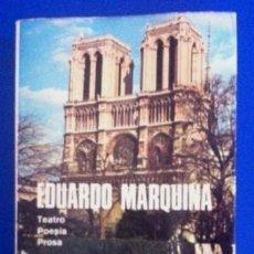 Libros de segunda mano: EDUARDO MARQUINA - TEATRO, POESÍA, PROSA - AGUILAR, 1951 - OBRAS COMPLETAS, TOMO VIII. Lote 58123410