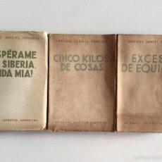 Libros de segunda mano: CINCO KILOS DE COSAS, EXCESO DE EQUIPAJE, ESPERAME EN SIBERIA VIDA MIA - ENRIQUE JARDIEL PONCELA. Lote 57930317