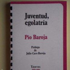 Libros de segunda mano: JUVENTUD, EGOLATRIA - PIO BAROJA - EDITORIAL TAURUS, 1977 - (EN BUEN ESTADO). Lote 58509923