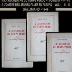 Libros de segunda mano: PCBROS - A LA RECHERCHE DU TEMPS PERDU - A L'OMBRE DES JEUNES FILLES EN FLEURS - GALLIMARD 1949. Lote 59175755