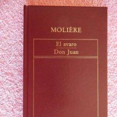 Libros de segunda mano: EL AVARO DON JUAN HISTORIA UNIVERSAL DE LA LITERATURA 80 EDICIONES ORBIS 1983 MOLIERE. Lote 59201255