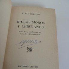 Livres d'occasion: JUDÍOS MOROS Y CRISTIANOS. NOTAS DE UN VADABUNDAJE POR ÁVILA, SEGOVIA Y SUS TIERRAS CELA). 1ª ED.. Lote 59776264