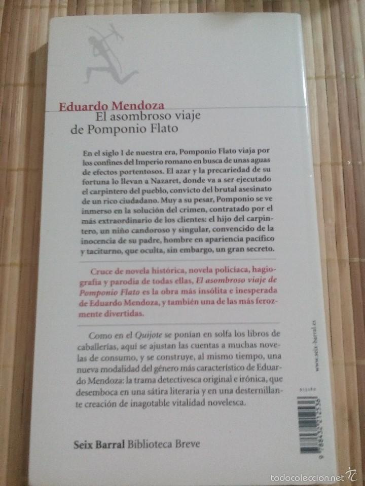 Libros de segunda mano: El asombroso viaje de Pomponio Flato - Eduardo Mendoza - Foto 2 - 60786035