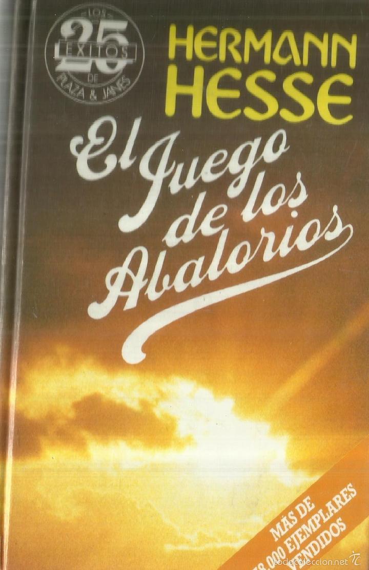 3 fotos EL JUEGO DE LOS ABALORIOS. HERMANN HESSE. PLAZA & JANES.