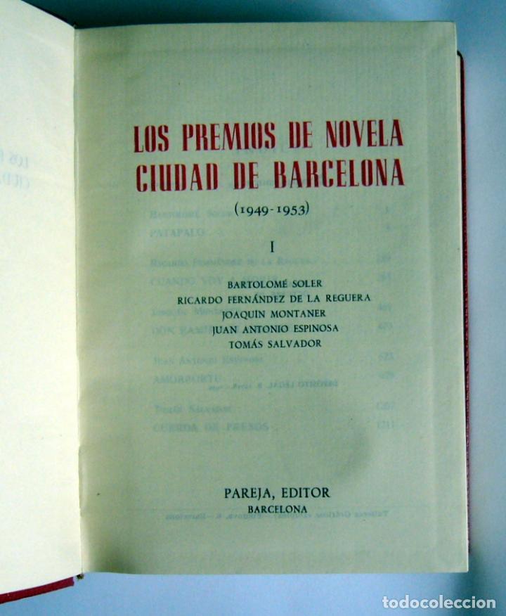 Libros de segunda mano: LOS PREMIOS DE NOVELA CIUDAD DE BARCELONA - DOS TOMOS - VARIOS AUTORES - PAREJA EDITOR. 1959 - Foto 3 - 61947116