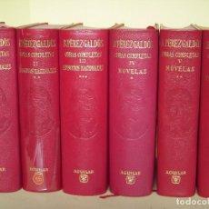 Libros de segunda mano: OBRAS COMPLETAS (6 TOMOS) - BENITO PEREZ GALDOS - EDITORIAL AGUILAR, 1961-1965 (COMO NUEVOS). Lote 62472332