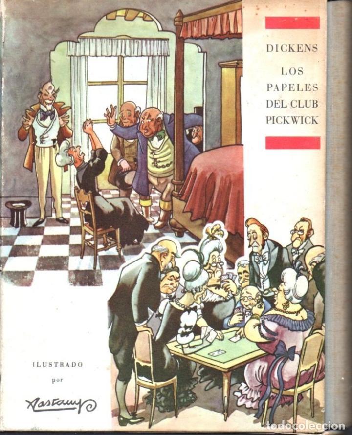 DICKENS . LOS PAPELES DEL CLUB PICKWICK ILUSTRADO POR CASTANYS (ARGOS, 1962) CON ESTUCHE (Libros de Segunda Mano (posteriores a 1936) - Literatura - Narrativa - Otros)