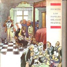 Libros de segunda mano: DICKENS . LOS PAPELES DEL CLUB PICKWICK ILUSTRADO POR CASTANYS (ARGOS, 1962) CON ESTUCHE. Lote 62994008