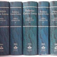 Libros de segunda mano: GARCÍA LORCA, FEDERICO: OBRAS COMPLETAS (5 VOLS.) (RBA) (CB). Lote 64017482