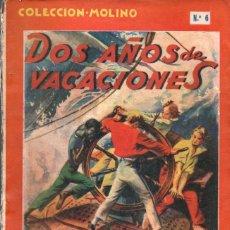 Libros de segunda mano: JULIO VERNE : DOS AÑOS DE VACACIONES (MOLINO. 1941). Lote 64135103