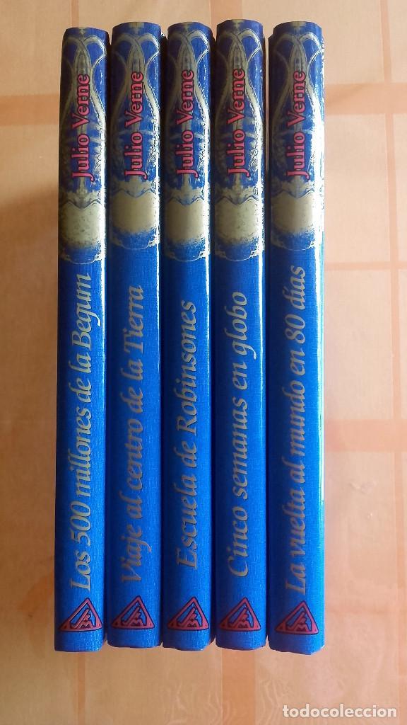 LOS VIAJES EXTRAORDINARIOS DE JULIO VERNE. 5 LIBROS. AÑO 2000 (Libros de Segunda Mano (posteriores a 1936) - Literatura - Narrativa - Otros)