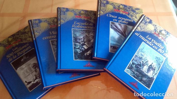 Libros de segunda mano: LOS VIAJES EXTRAORDINARIOS DE JULIO VERNE. 5 LIBROS. AÑO 2000 - Foto 2 - 64796947
