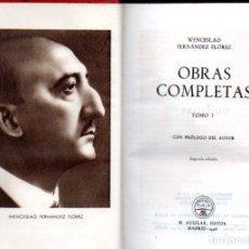 Libros de segunda mano: WENCESLAO FERNÁNDEZ FLÓREZ : OBRAS COMPLETAS I (AGUILAR JOYA, 1946). Lote 65862938
