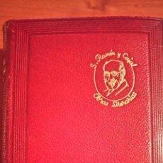 Libros de segunda mano: OBRAS LITERARIAS COMPLETAS. 1947 SANTIAGO RAMÓN Y CAJAL . M. AGUILAR EDITOR PIEL ORIGNAL. Lote 66050862