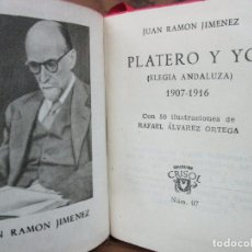 Libros de segunda mano: PLATERO Y YO. JUAN RAMÓN JIMÉNEZ. CRISOLÍN. NÚM. 07. 1953. . Lote 66213114