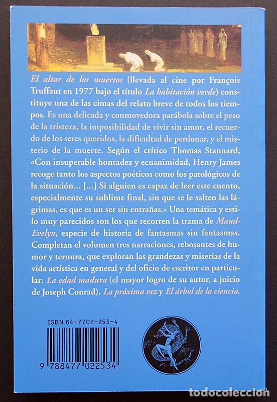 Libros de segunda mano: El altar de los muertos y otros relatos - Henry James - Valdemar (El Club Diógenes) 2005 - Foto 2 - 66860230
