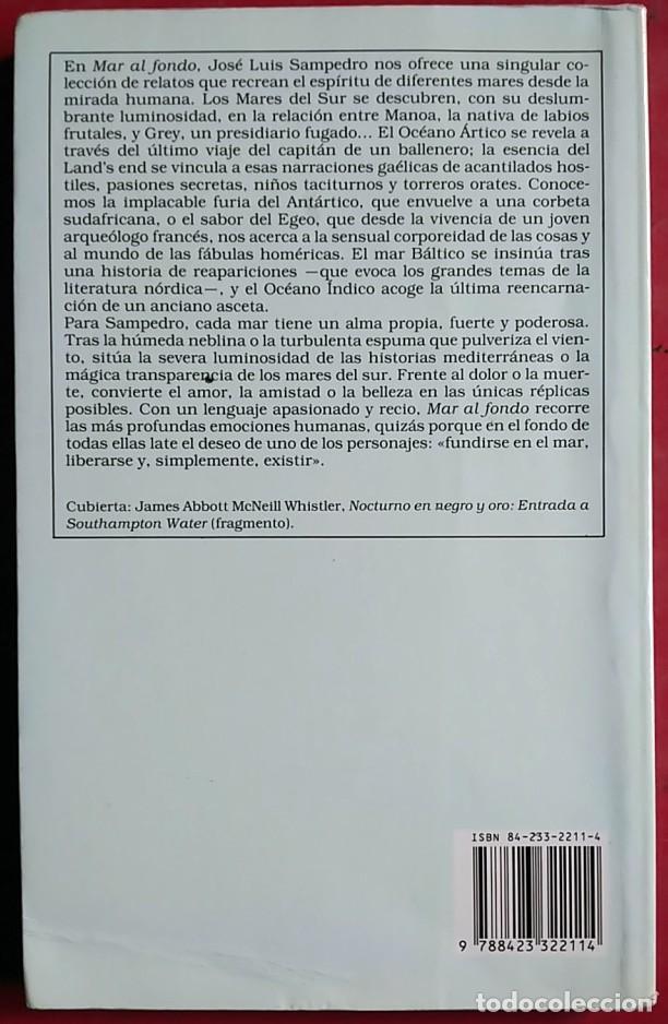 Libros de segunda mano: José Luis Sampedro . Mar al fondo - Foto 2 - 67025254