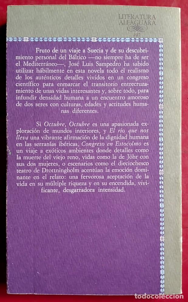 Libros de segunda mano: José Luis Sampedro . Congreso en Estocolmo . Alfaguara - Foto 2 - 67026146