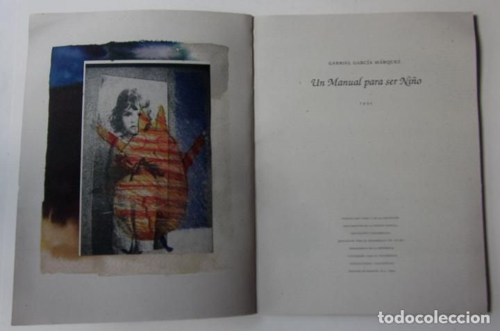 Libros de segunda mano: UN MANUAL PARA SER NIÑO - GABRIEL GARCIA MARQUEZ - PRIMERA EDICION 1995 - Foto 3 - 67242253