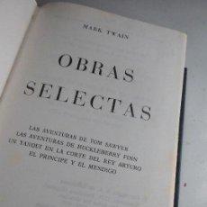 Libri di seconda mano: LIBRO OBRAS SELECTAS MARK TWAIN 1977 ED. CARROGIO L-12617. Lote 67387093