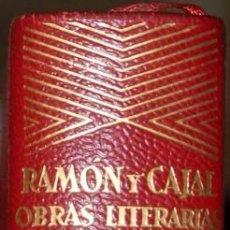 Libros de segunda mano: AGUILAR. JOYA. RAMÓN Y CAJAL. OBRAS LITERARIAS COMPLETAS. Lote 67977833
