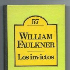 Libros de segunda mano: WILIAM FAULKNER, LOS INVICTOS, CLUB BRUGUERA Nº 57. TAPA DURA, 242 PÁGINAS.. Lote 277437873