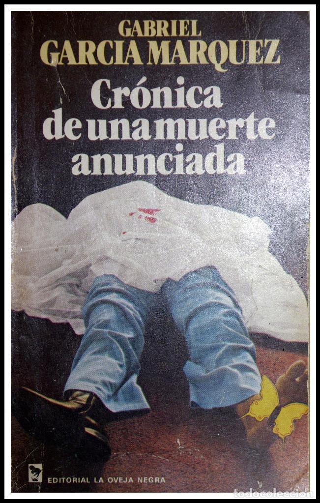 CRÓNICA DE UNA MUERTE ANUNCIADA - PRIMERA EDICIÓN - GABRIEL GARCÍA MARQUEZ (Libros de Segunda Mano (posteriores a 1936) - Literatura - Narrativa - Otros)