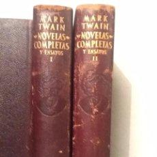 Libros de segunda mano: NOVELAS COMPLETAS Y ENSAYOS MARK TWAIN 2 VOL. 1957-1953 . Lote 69948977