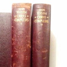 Libros de segunda mano: OBRAS COMPLETAS LEON TOLSTOI TOMO I Y II . 2 VOL AGUILAR 1955-56. Lote 69952089