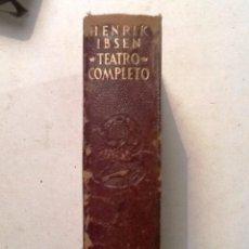 Libros de segunda mano: HENRIK IBSEN TEATRO COMPLETO. AGUILAR 1952. Lote 69953877