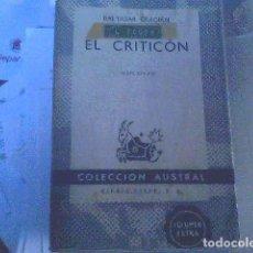 Libros de segunda mano: BALTASAR GRACIÁN - EL CRITICÓN. Lote 70340057