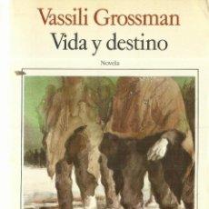 Libros de segunda mano: VIDA Y DESTINO. VASSILI GROSSMAN. SEIX BARRAL. BARCELONA. 1985. Lote 108097580